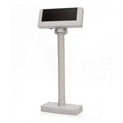 Дисплей покупателя Flytech 2x20 VFD (белый/черный) (на подставке, с планкой питания)