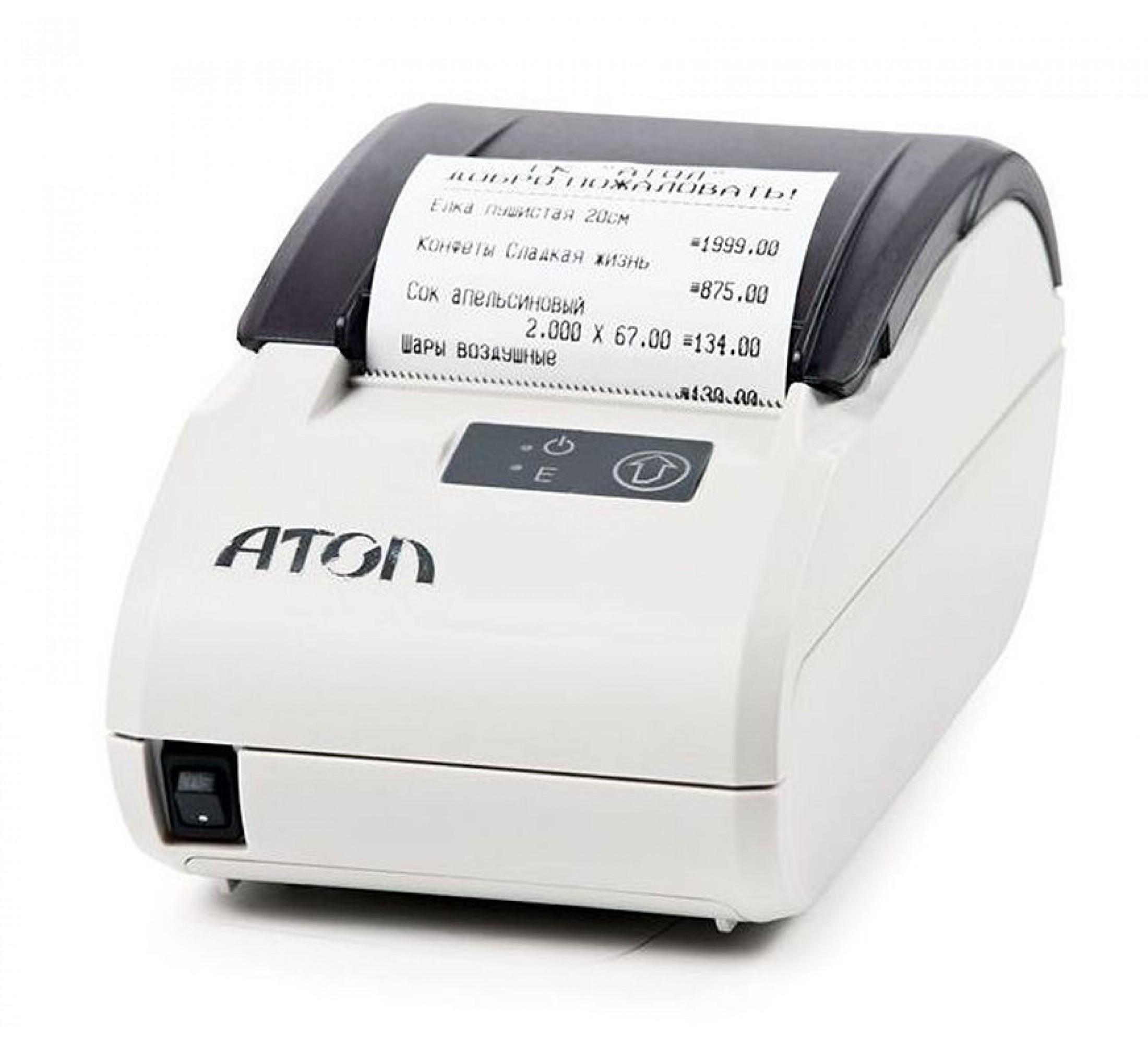 Фискальный регистратор АТОЛ 11Ф, Чёрный, белый, ФН 15 месяцев, RS+USB+АКЦИЯ!!! Сканер ШК или Детектор валют в подарок!