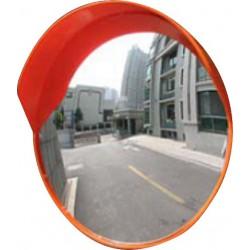 Круглое сферическое зеркало D-600 мм для улицы с козырьком