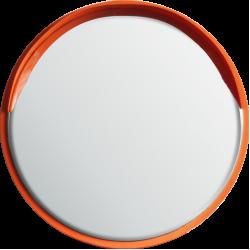 Круглое сферическое зеркало Steel Crafts для улицы D-320 с козырьком
